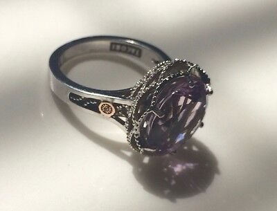 Tacori rose Amethyst Ring - 18KT Rose Gold and Sterling Silver