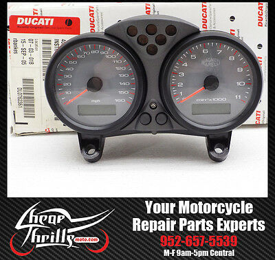 NEW Gauge Cluster Speedo Tach 900 Ducati 750 Monster 00-02 OEM