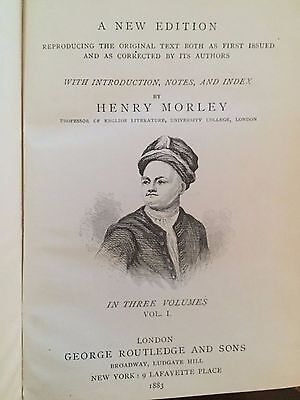 1883 Books by Henry Morley, 3 Volumes of The Spectator