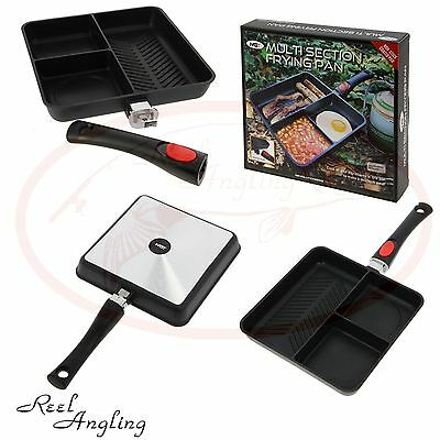 multi section frying pan camping carp coarse fishing outdoor cooking NGT Tackle