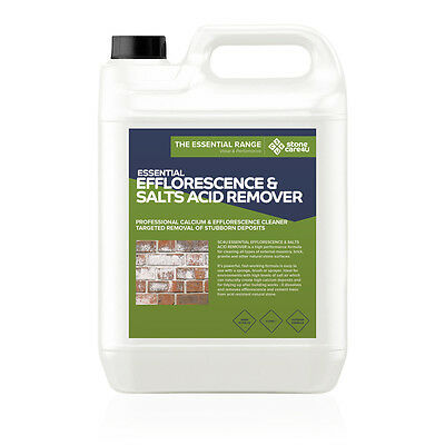 Stonecare4u Essential Efflorescence & Salts Acid Remover 5L - Powerful cleaning