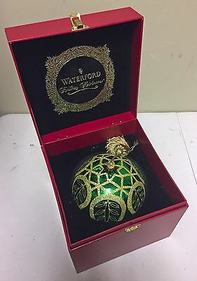 Waterford Peacock Masterpiece Ball Ornament Holiday Heirlooms