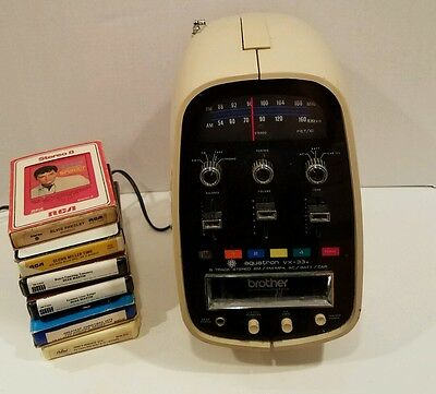 AQUATRON VX-33A 1970s RADIO & 8 TRACK PLAYER & TAPES Radio Works, Tapes Don't