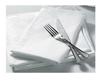 "100% Cotton Napkins White Dinner Napkins Easy Iron 16"" x 16""(41 x 41cm)"