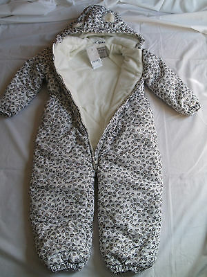 GIRL'S 4-5 Yrs old SNOW SUIT SHOWER PROOF WATER RESISTANT WINTER COAT BNWT
