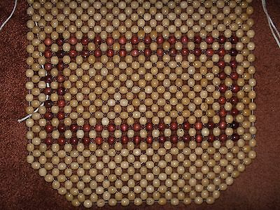 Beaded Wood Car/Truck/SUV Seat Cover Vintage Style Two-Tone Color