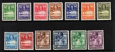 SIERRA LEONE-1932 Set to £1 Sg 155-167 ALL LOOK UNMOUNTED MINT!