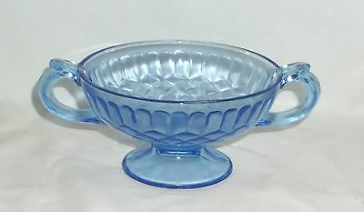 """US Glass AUNT POLLY BLUE *5 1/4"""" FOOTED CANDY*"""