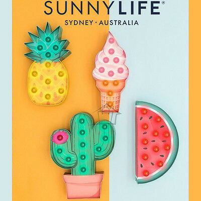 NEW SunnyLife Marquee Light LED Lamp Party Nightlight Vintage Battery Powered