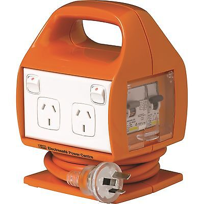 HPM ELECTRESAFE POWER CENTRE Built-in Safety Switch Orange- 10Amps or 15 Amps