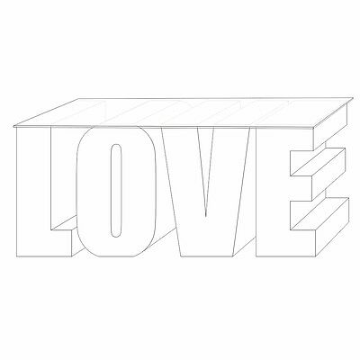 3D LOVE Table / Wedding Table / Candy Table / LOVE Sign Letters -500mm High