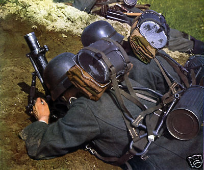 World War Two COLOR Photo German WWII Mortar Team WW2 Wehrmacht Germany
