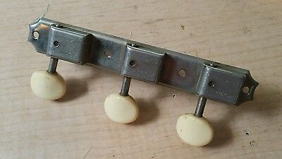 60's Gibson Deluxe Treble Side Strip Guitar Tuners for J-45 etc.