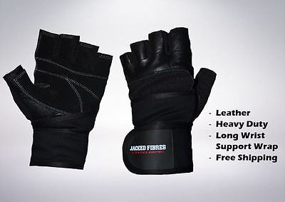 Leather Gym Gloves Fitness Weight Lifting Training Bodybuilding Crossfit