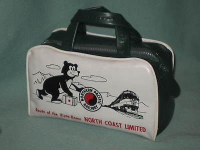 Vintage Northern Pacific Railway Child's Toy Travel Bag. Bearse.