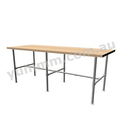 Rustic Industrial Retro Iron Pipe  Bar Coffee Dinning Table Legs Brackets DTL051