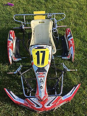 Go Kart Synergy In Black Metallic Flake No:081 Rolling Chassis Cadet Zip Iame
