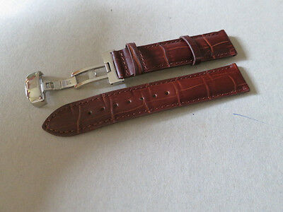 19mm Brown Watch Leather Band Strap For Tissot