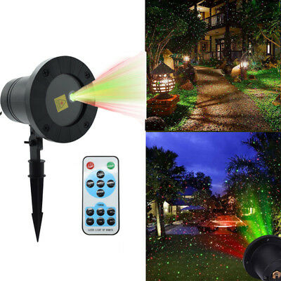 Xmas Party Lawn Garden Laser Projector Lights Red Green LED Outdoor Indoor New