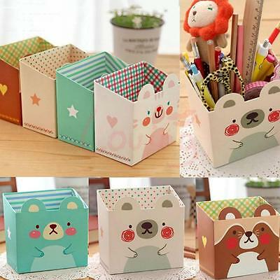 DIY Hot Makeup Cosmetic Stationery Paper Board Storage Box Desk Organizer