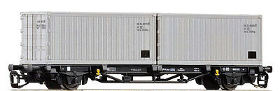 PIKO 47721 TT Container wagon 2x20' the DR, Epoch IV New in OVP