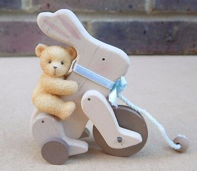 ENESCO Cherished Teddies Mini Figurine - Bear On Toy Bunny 537187