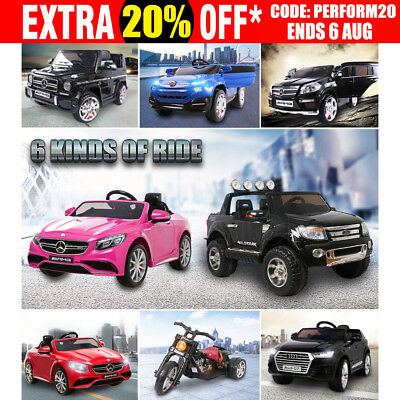Kid Electric Licensed Mercedes Benz Audi Ford Ranger Children Ride On Car Toy AU
