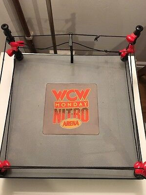 WCW Wrestling Ring Play Set Monday Nitro With Sounds WWE Collectable Rare 1999