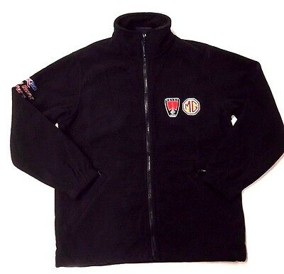Mg / Rover Black Zip Up Fleece New ! Size Large And Matching Black Polo T Shirt
