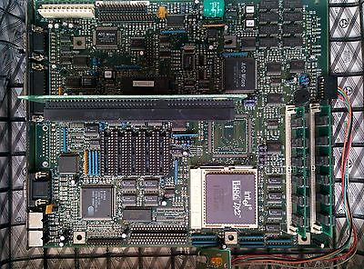 VINTAGE RETROCOMPUTER Motherboard 16mb ram 72pin + Intel 486 DX 2 66MHz 386 sx