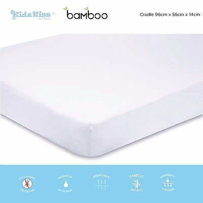 KIDZ KISS Bamboo Waterproof Fitted Mattress Protector / Cover [Cradle]