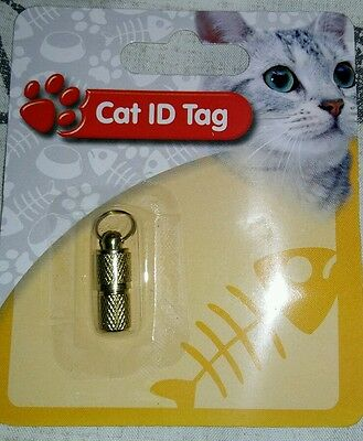 ID tubes / tag for Cat collars. Help keep your cat safe.
