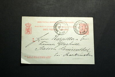 Luxembourg 1888 stationery post card    #196