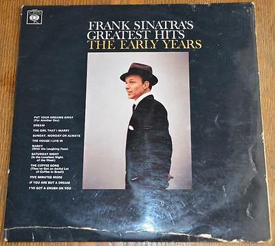 FRANK SINATRA Greatest Hits The Early Years LP vinyl record CBS JAZZ swing 1969
