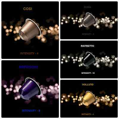 200 Nespresso Capsules Coffee Espresso Intenso Flavors Original Machine Pods