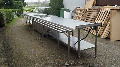 Stainless Steel Hot Food Serve Over Counter / Tables