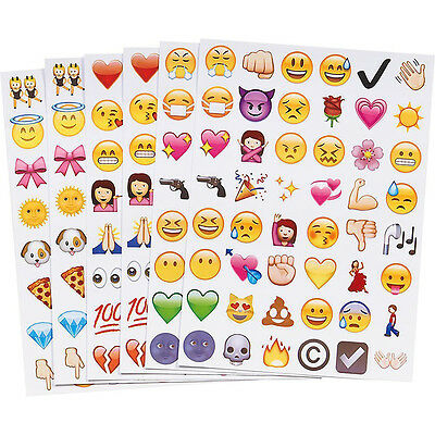 New Cute Lovely 48 Die Cut Emoji Smile Face Sticker for Phone Laptop Decor