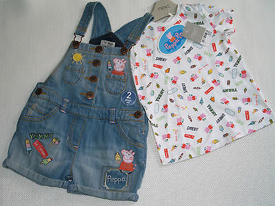 BNWT GIRL'S 2-3 Years old Peppa Pig outfit Set