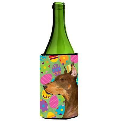 Carolines Treasures Doberman Easter Eggtravaganza Wine bottle sleeve Hugger