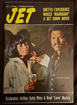 Jet Magazine Exclusive Featuring Diana Ross & Billy Dee Williams - Oct 9, 1975
