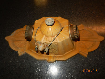 Vintage Lincoln Marietta Art Deco Ceiling Light Fixture Aluminum