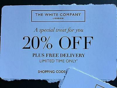 The White Company 20% Off Voucher - In Store/online Exp 23 Dec (Cats Protection)