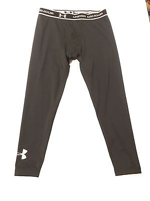 UNDER ARMOUR Boys Girls Black FITTED COLD GEAR Pants Youth XL YXL Extra Large