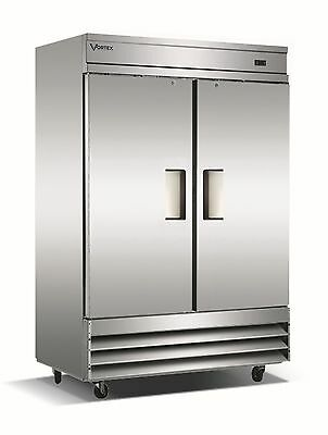 VORTEX Commercial 2 Door Reach-In Freezer - 49 Cu. Ft.