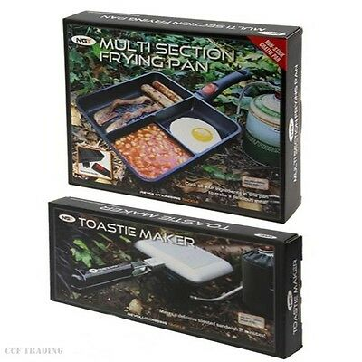 Multi Section Frying Pan & Toastie Maker Carp Fishing Tackle Camping Ngt