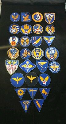 Ww2 U.s.army Air Force Patches 28 Original Cut-Edge