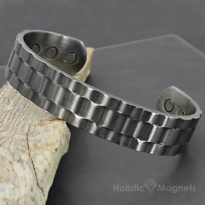 Mens Copper Magnetic Bracelet for Arthritis Holistic Therapy & Well-being -RolXP