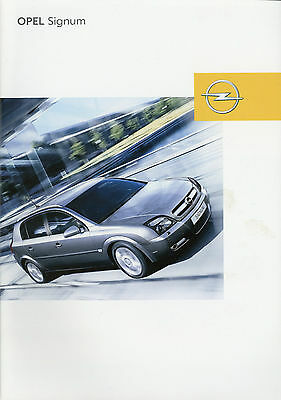 opel signum prospekt brochure von 2004 eur 2 80 picclick de. Black Bedroom Furniture Sets. Home Design Ideas