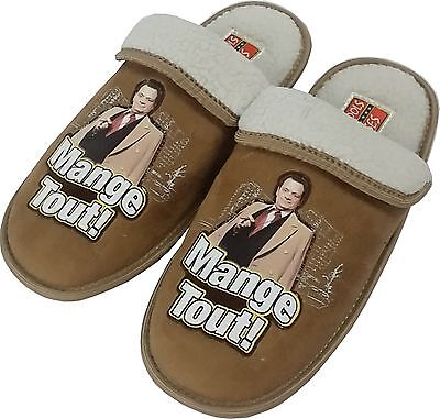 Only Fools and Horses Official Mens Cuff Sheepskin Slippers NEW