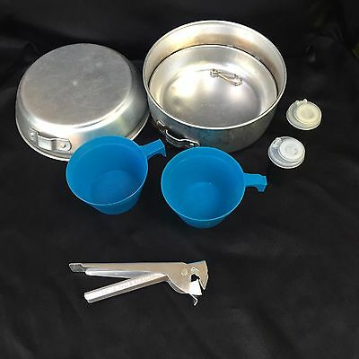 Vintage Boy Scouts Camping Cook Set with Accessories c 1950's